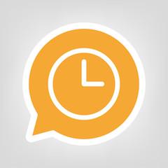 Gelbe Sprechblase - Uhr