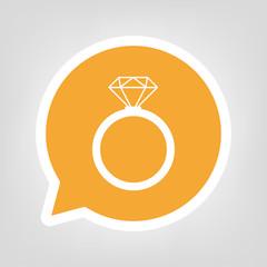 Gelbe Sprechblase - Diamantring