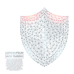 Polygonal security shield abstract image. Low poly