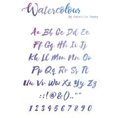 Watercolour Alphabet