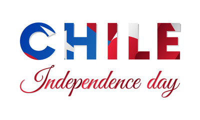 Chile independence day. Vector illustration.
