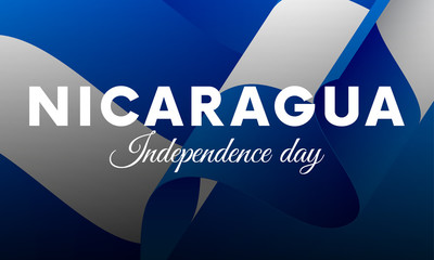 banner or poster of nicaragua independence day celebration