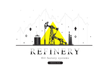 Popularity Oil refinery modern layouts industry.