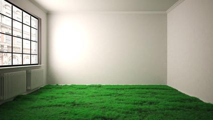 Rasen im Wohnzimmer