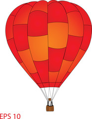 Hot Air Balloon Vector Illustration, EPS 10.