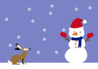 スノーマンのイメージ シーズンアート 冬季