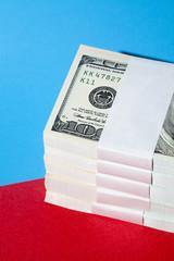 Stack of hundred dollar bills.