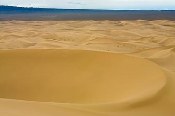 Khongor Els Sand Dune Bowl Shape High Angle View