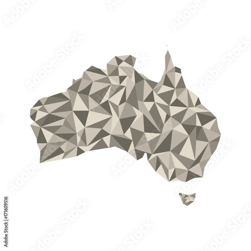Map of Australia. Isolated vector illustration. Map of the ...
