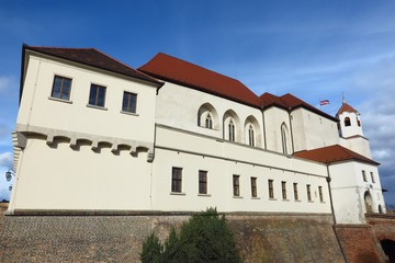 Spilberk Castle in Brno, Southern Moravia, Czech Republic exterior on sunny day