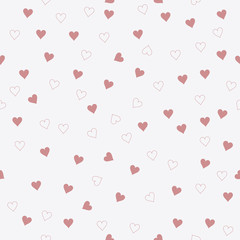 Heart seamless pattern. Design for gift packaging, clothing, wallpaper. Abstract vector background.