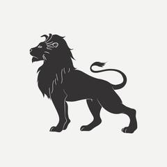 Lion icon. Logo template. Vector illustration.
