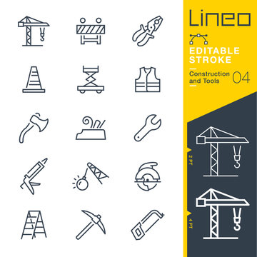 Lineo Editable Stroke - Construction and Tools line icons Vector Icons - Adjust stroke weight - Expand to any size - Change to any colour