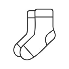 Warm socks linear icon