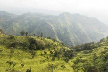 View at the Little Adam's Peak and the Ella Rock, Ella, Sri Lanka