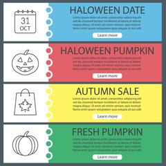 Halloween web banner templates set