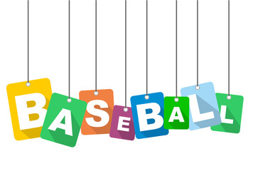 Colorful vector flat design background baseball. It is well adapted for web design.