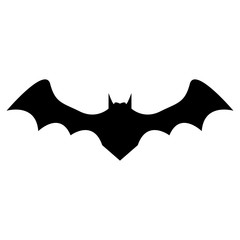 silhouette of bat on white background