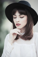 Portrait of a stylish young woman