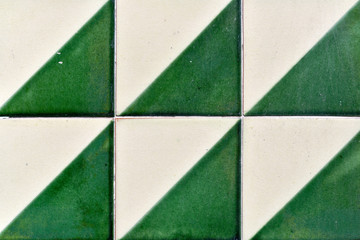 Vintage tiles on a wall