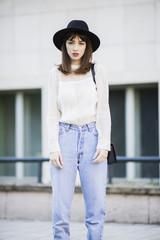 Stylish young woman portrait