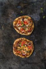 Rustic Tomato and Onion Pizza