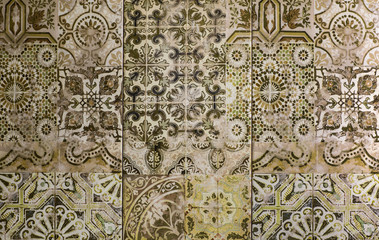mosaic ceramic tile with abstract pattern