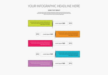 Four Section Vertical Timeline Infographic Layout 3