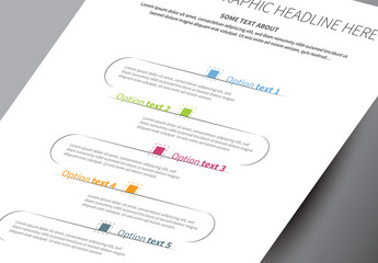 Curved Vertical Infographic Layout 1