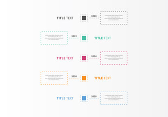 Vertical Timeline Infographic Layout 4
