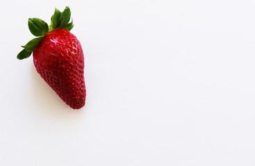Fresh strawberry white background
