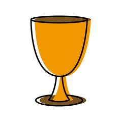 Holy chalice isolated icon vector illustration graphic design