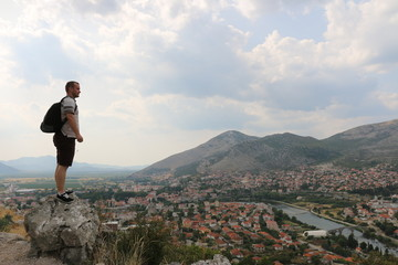 View of Trebinje, a city in Bosnia and Herzegovina. River passes through this city.