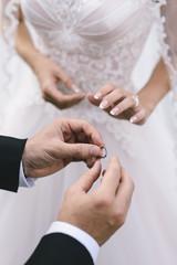 Wedding Ceremony. Exchange of Rings
