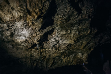 The ceiling in underground cave