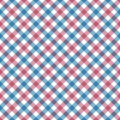diagonal checkered plaid seamless pattern. Vector illustration