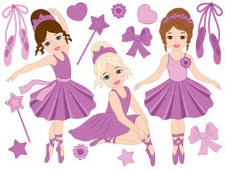 Vector Ballerinas Set