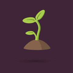 Sprout modern icon