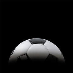 Realistic soccer ball or football ball in shadow. 3d Style vector Ball.