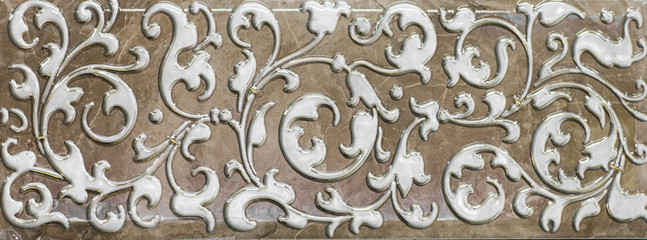 decorative tile with abstract pattern