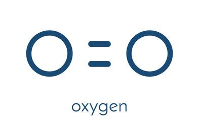Elemental oxygen (O2) molecule. Skeletal formula.