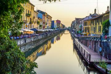 Foto auf Acrylglas Milan Mailand Navigli, Italien