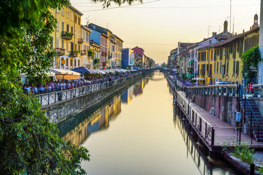 Mailand Navigli, Italien