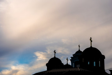 Silhouette of an Orthodox church
