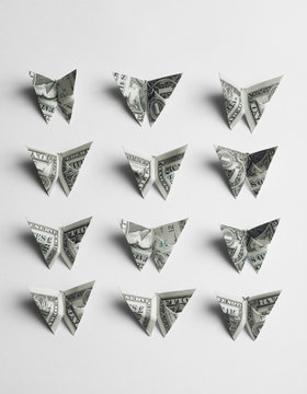 Origami butterfly Dollar