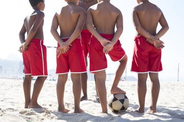 Beach Soccer School. Rio de Janeiro. Brazil.