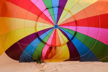 Blowing up hot air balloons