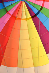 Detail of the interior of a hot air balloon