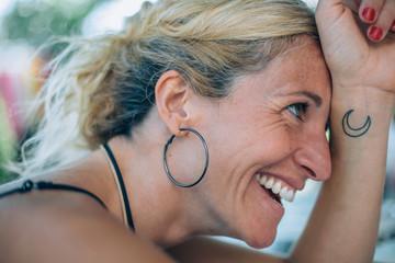 Happy woman in summer