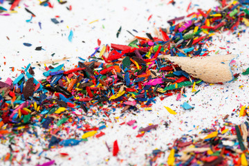 Small shavings from color pencils